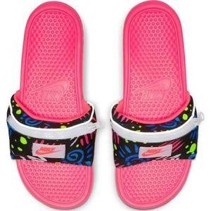 NWT Nike Benassi JDI Fanny Pack Print Slides